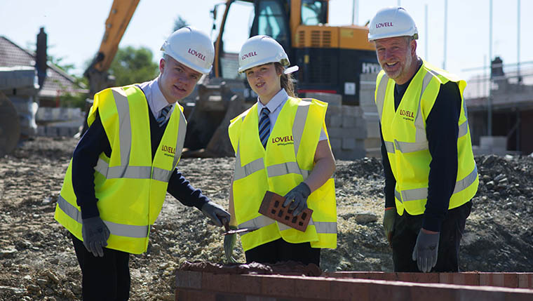 Students gain some on-site experience in Leeds
