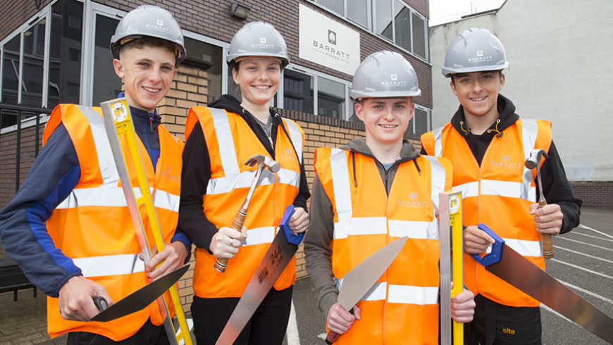 Barratt's West Midlands division takes on four more apprentices