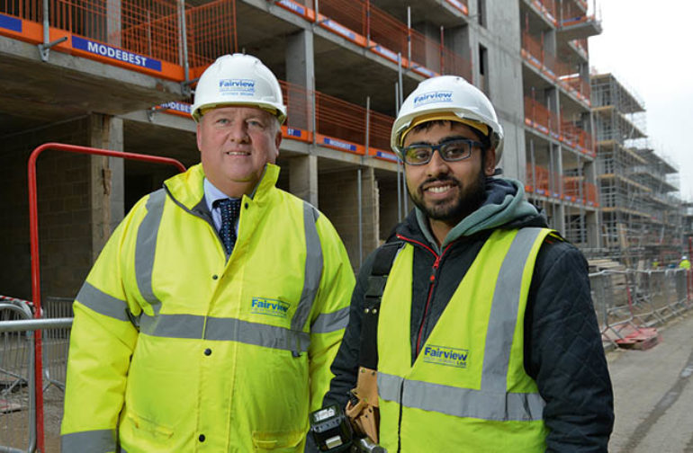 Colindale developments bring 40+ new apprentices to Fairview New Homes