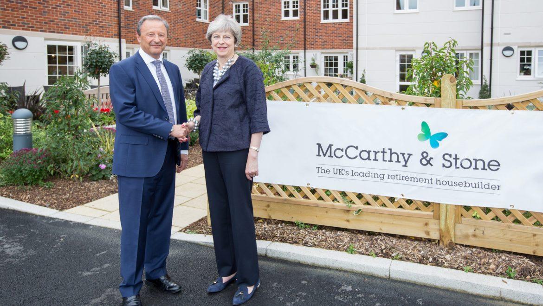 May meets McCarthy & Stone: PM champions retirement housing