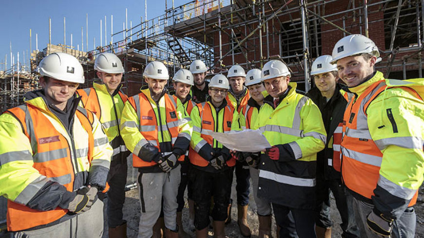 Opportunities in housebuilding given by CALA Homes with The Prince's Trust