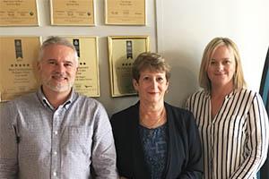Sean Butcher, Anne Williams and Nicola Rafferty of Acorn Property Group