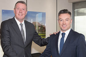 Steve Greenhalgh and Andrew Farley of Redrow Homes