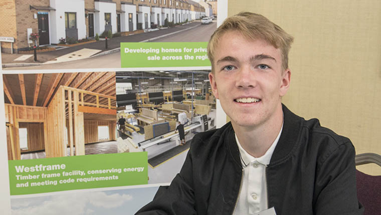 Westleigh Homes recruits its latest new apprentice in joinery
