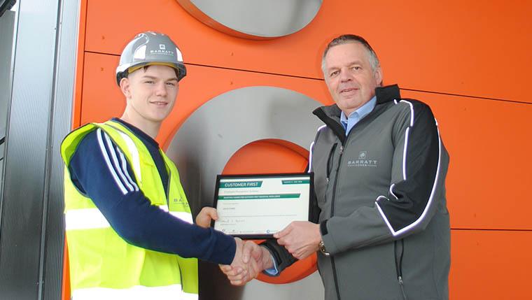 Talented 17-year-old wins Barratt apprenticeship award
