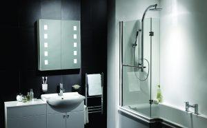 10. Pebble Grey, Elana LED cabinet