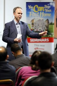 Gavin Barwell at the recent First Time Buyer Home Show in Croydon