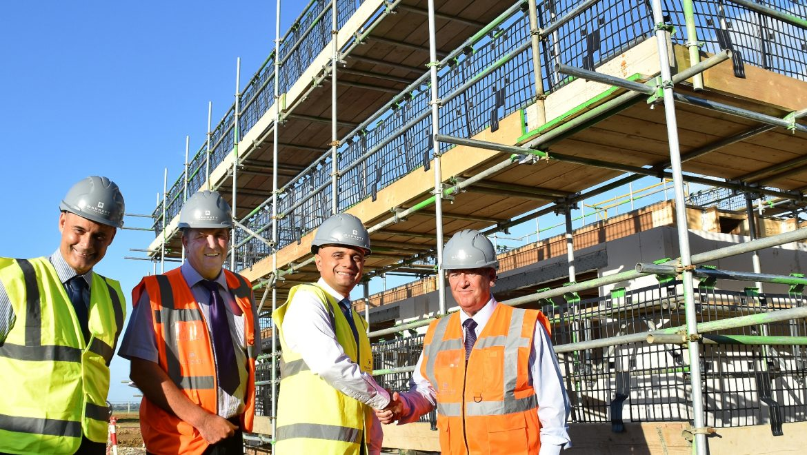 Barratt shows off new building methods to visiting minister