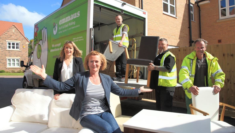 Developer donates show home furniture to homeless