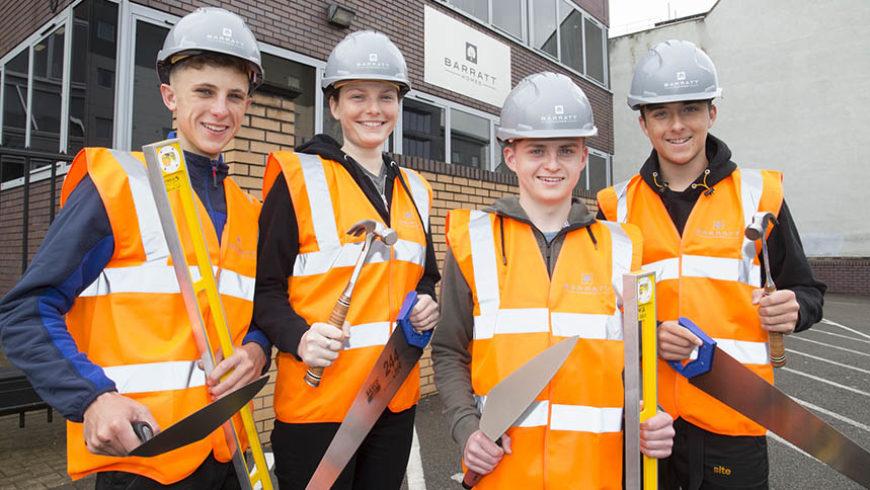 Barratt's West Midlands division takes on four more apprentices
