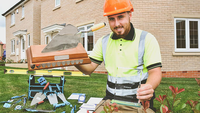 21-year-old housebuilding apprentice lines up for national bricklaying award