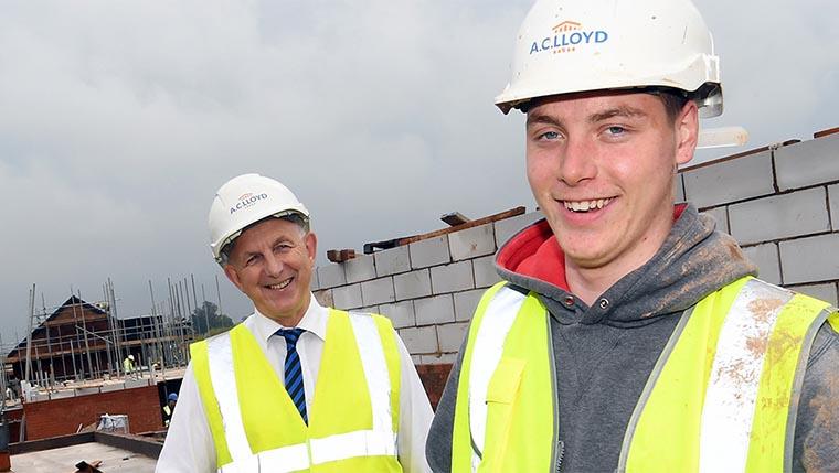 New apprentice joins a nine-strong team for Midlands housebuilder