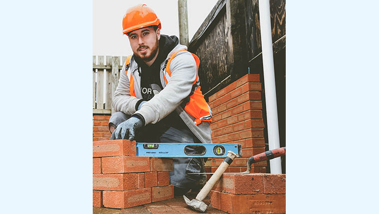 Winning ways: Jake Dominy, apprentice bricklayer