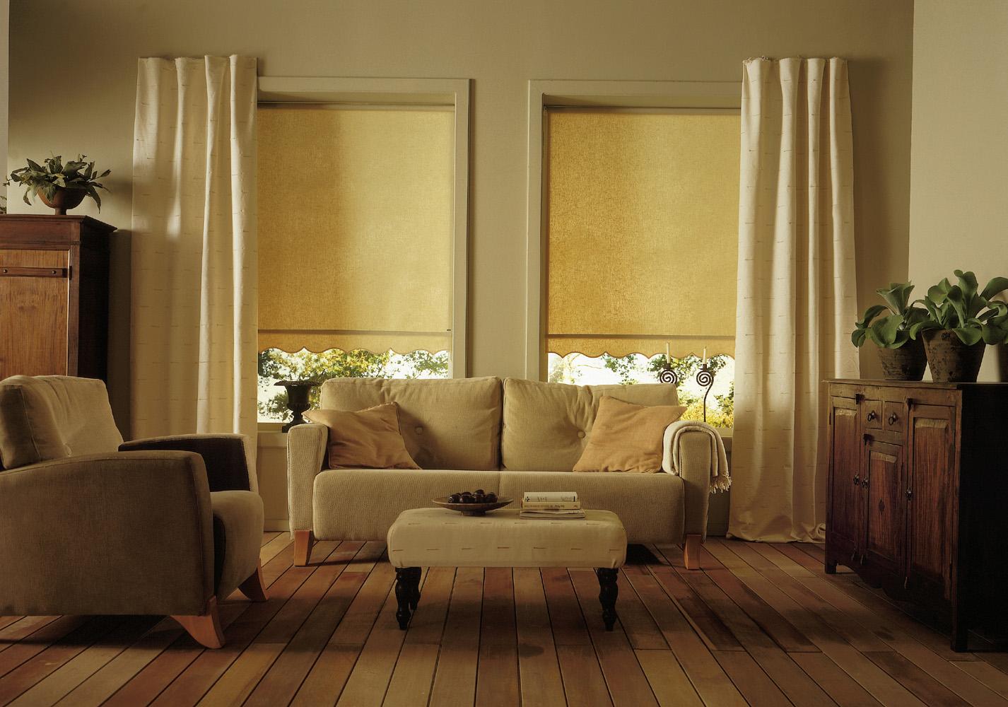 Roller blind from apollo blinds 2 show house for Decoracion de interiores cortinas