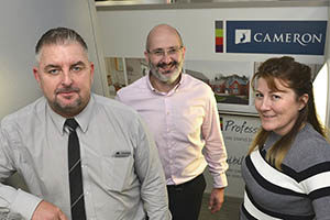 Darren Abley, Steve Cassie and Emma Macdonald of Cameron Homes