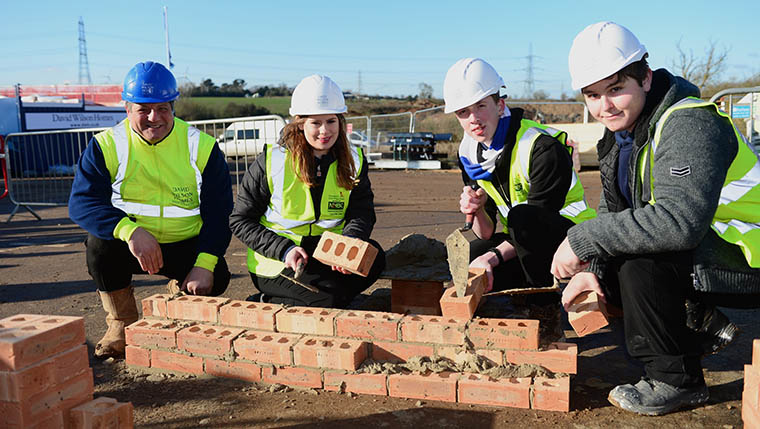 Construction students get hands-on with David Wilson Homes