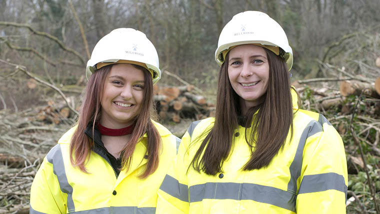 Talented women enjoying their roles on property development team