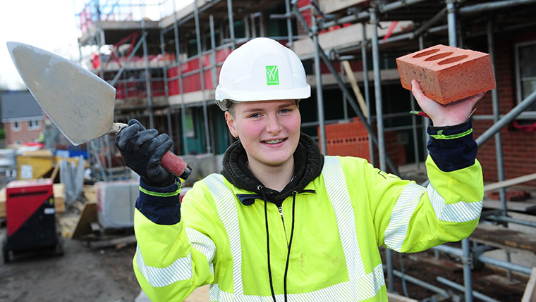 Bricklaying not just a man's job, says Westleigh's Megan