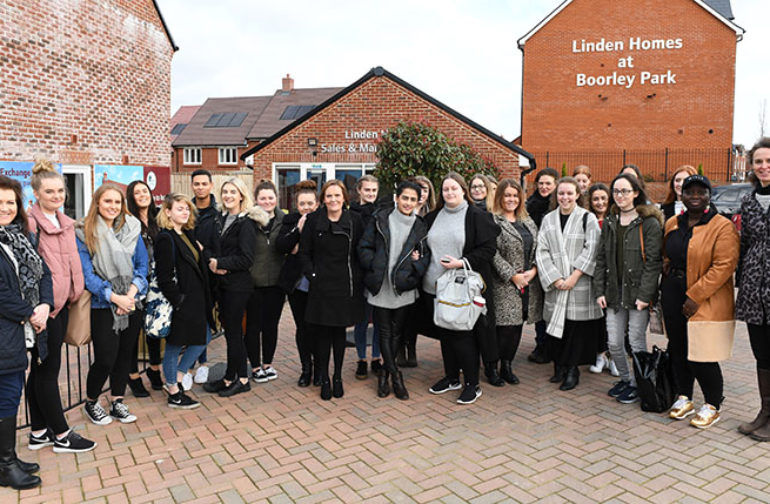 Helping hand from Linden Homes to interior design students