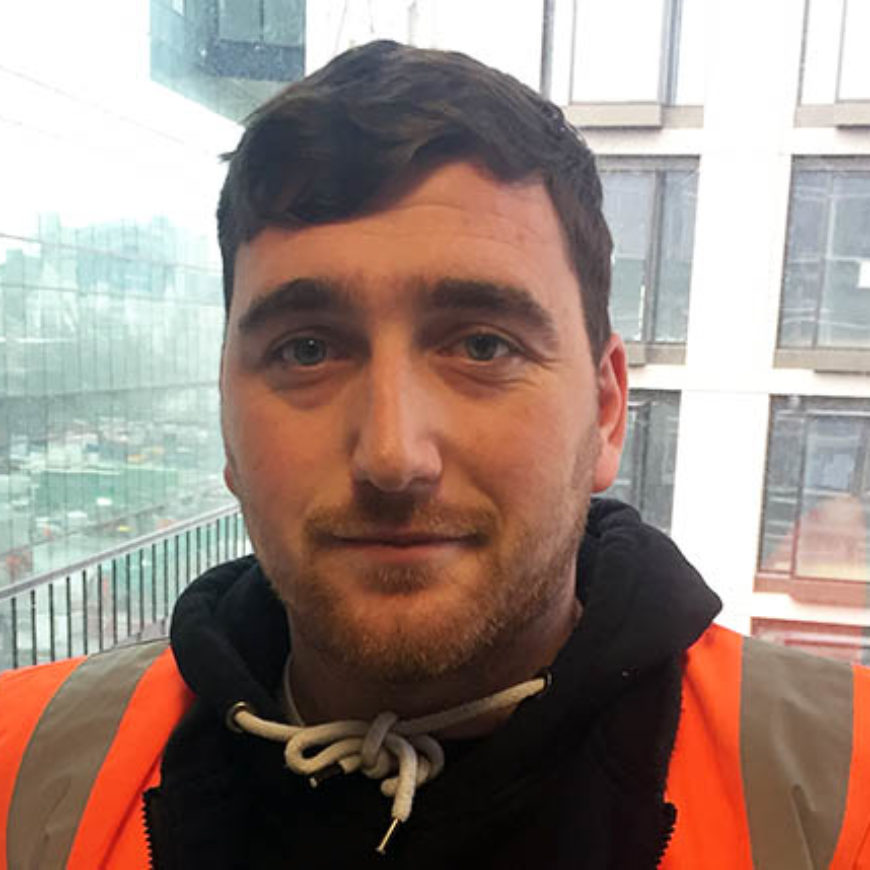 Career progresses for crane driver Graham onsite and in college