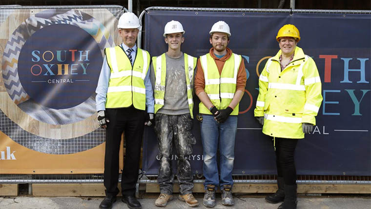 Local employment in Hertfordshire thanks to housebuilding apprenticeships