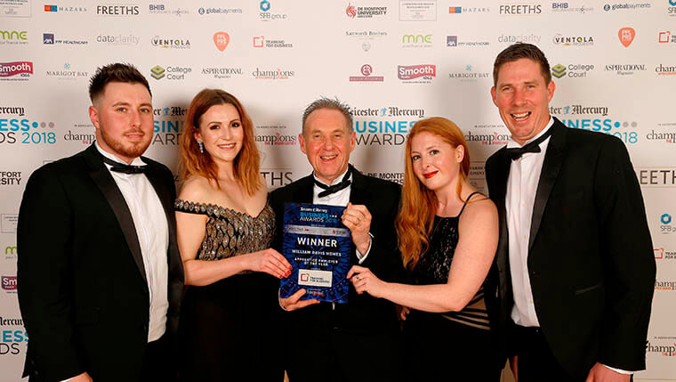Apprentice employer of the year award for William Davis Homes