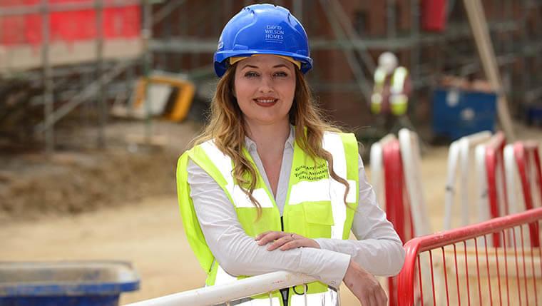 First step into construction career for Georgina
