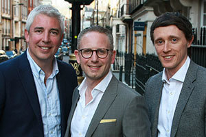 Ryan Collier, David Goldberg and Andrew Froy of POD Management