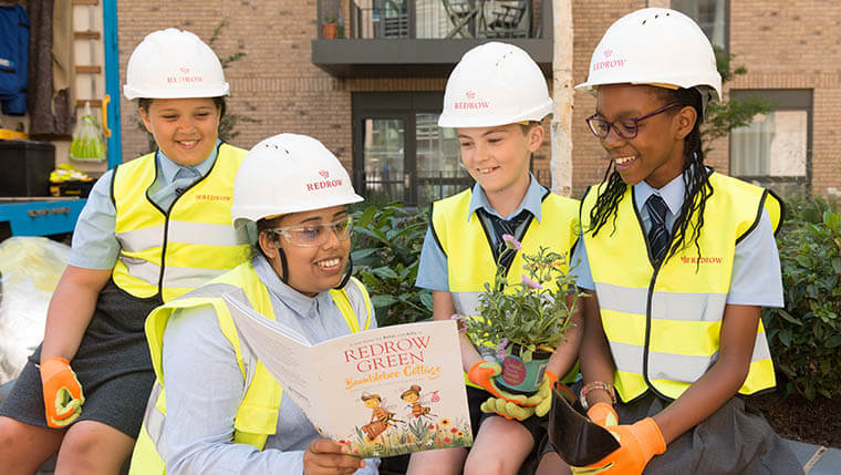 A day at a new homes site for schoolchildren in Harrow