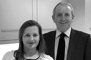Katy Snow and John Cahill of Omega Contracts