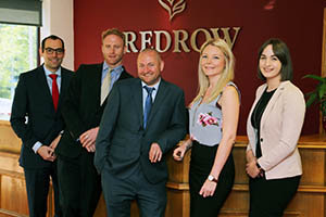 Tim Plagerson, Joe Blincoe, Danny Cheal, Sophie Brown and Hannah Watson of Redrow Homes