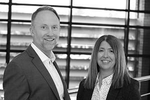 Paul Lake and Stacey Temprell of British Gypsum