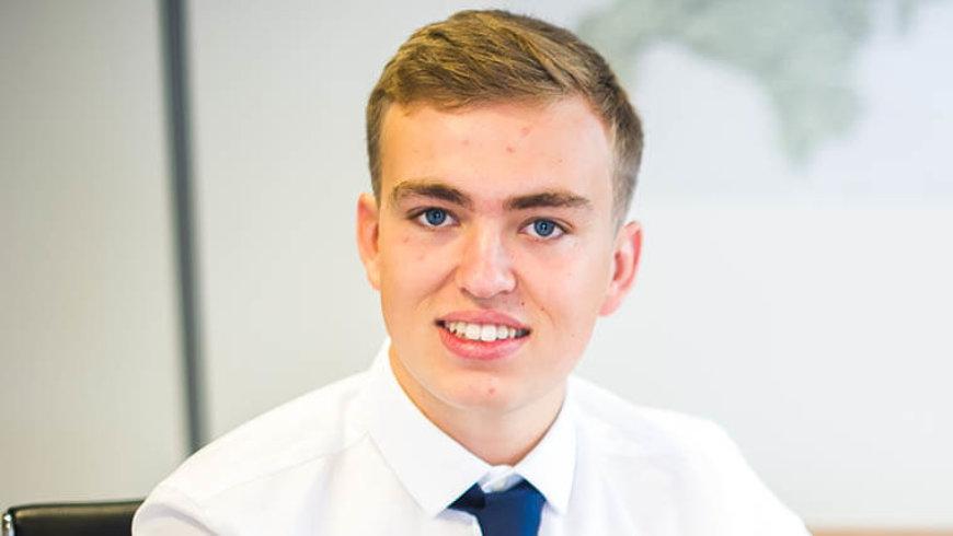 Barney starts marketing apprenticeship with Barratt