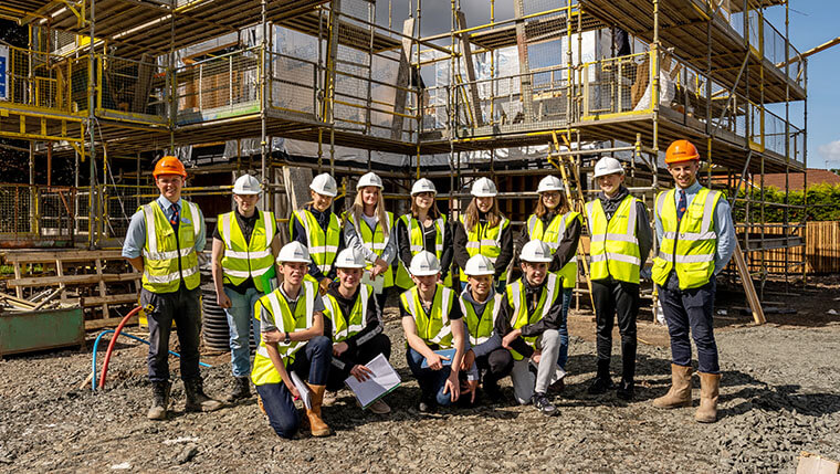 Bellway welcomes work experience pupils