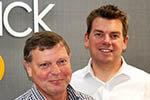 Mick Jones and David Baker of Caddick Land