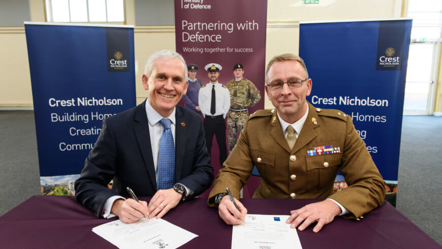 Crest Nicholson targets army leavers for career in housebuilding