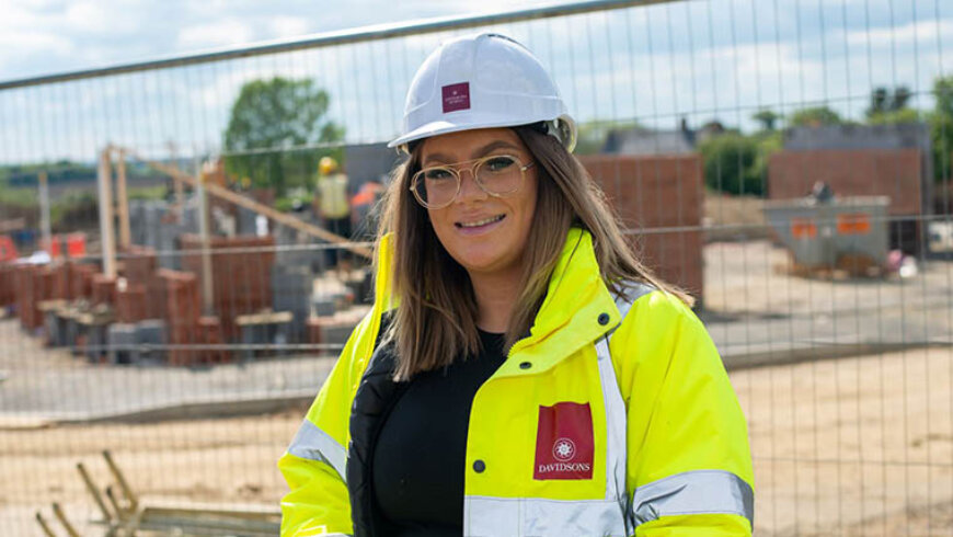 Apprentice aiming to build a successful career with Davidsons Homes