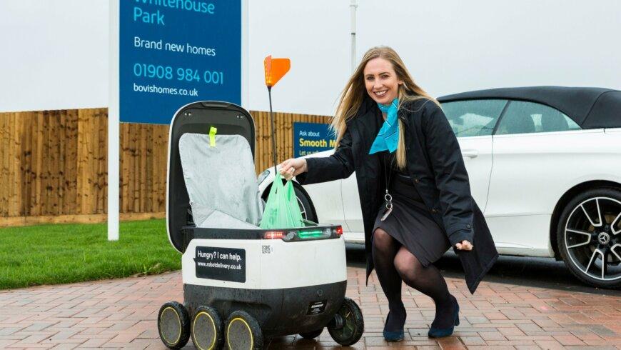 Milton Keynes new build developments serviced by delivery robots